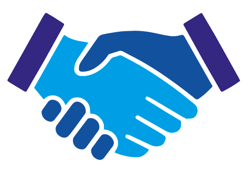 shaking hands contact icon