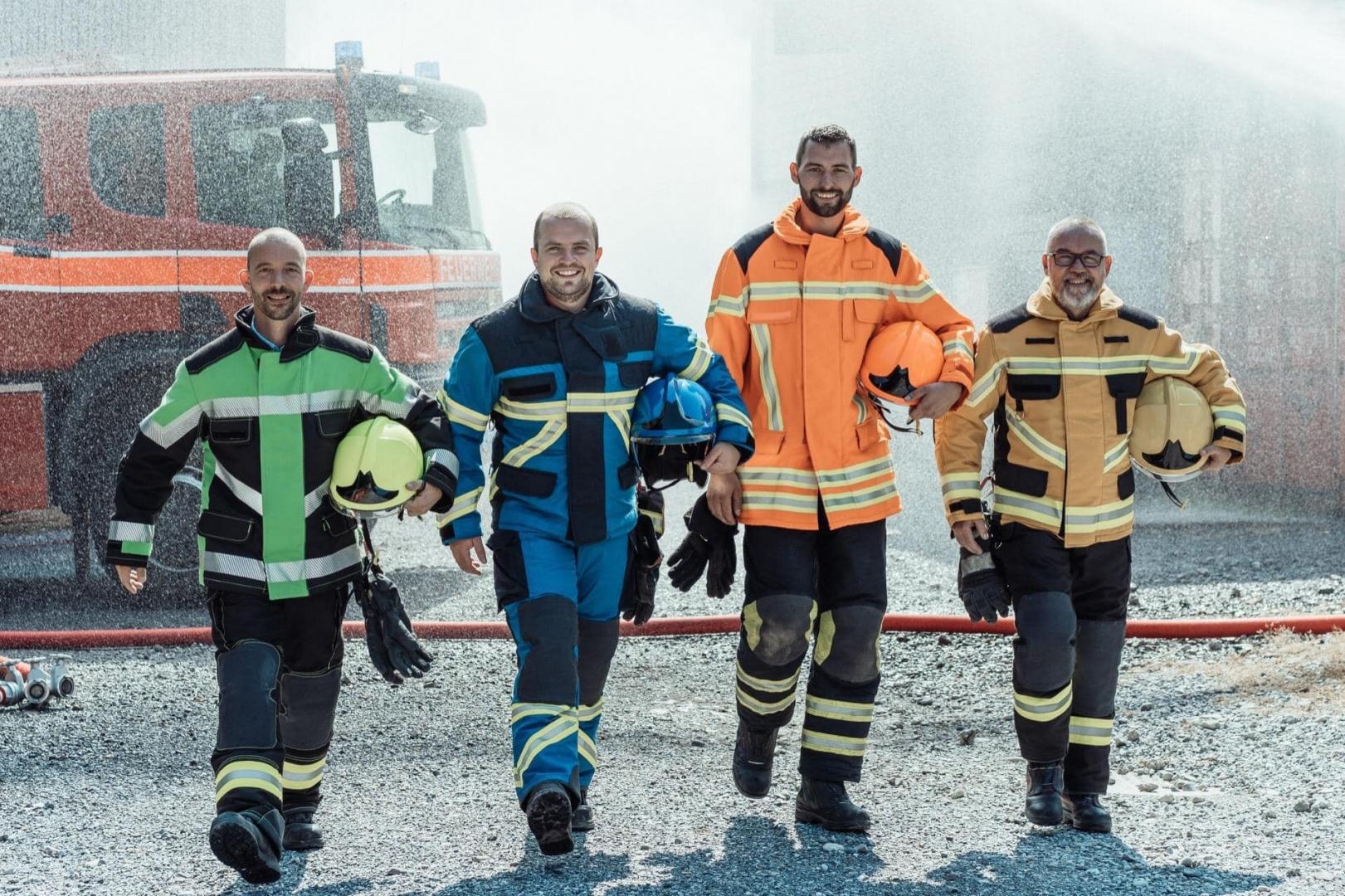 Feuerwehrleute machen mobil für die Politik